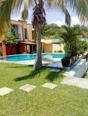vendo casa con alberca en cuernavaca morelos - 3 recámaras - 2 baños - 90 m2